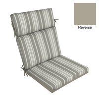 Better Homes & Gardens Gray Stripe 44 x 21 in. Outdoor Dining Chair Cushion w EnviroGuard
