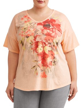 Women's Plus Size Graphic Short Sleeve T-Shirt
