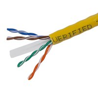 Monoprice Cat6 Ethernet Bulk Cable - Network Internet Cord - Solid, 500Mhz, UTP, CMR, Riser Rated,  Pure Bare Copper Wire, 23AWG, 1000ft, Yellow