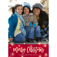 Star Filled Night - 5x7 Personalized Merry Christmas Holiday Card