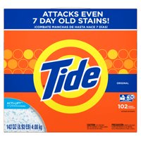 Tide Powder Laundry Detergent, Original, 102 Loads 143 oz
