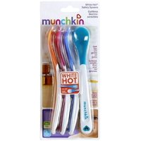 Munchkin White Hot Safety Spoons, Assorted Colors 4 ea (Pack of 4)