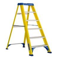 Louisville Ladder FS2006 6 ft. Fiberglass Step Ladder, Type I, 250 lbs Load Capacity