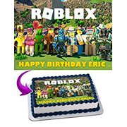 Roblox Edible Cake Image Topper Personalized Icing Sugar Paper A4 Sheet Frosting Photo 1