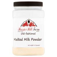 Hoosier Hill Farm Old Fashioned Malted Milk Powder, 1.5 lbs plastic jar