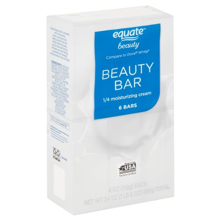 - (2 pack) Equate Beauty Beauty Bar, 4 oz, 6 count
