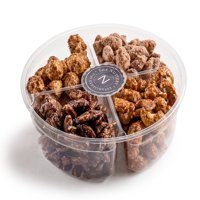 The Nuttery Deluxe Premium Glazed Nuts Gift Tray - 4 Sectional Holiday Gift Platter
