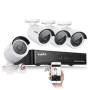 cbcd989fae9 SANNCE 4 Channel 1080P POE NVR Security Camera System and (4) 2.0 MP Outdoor