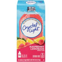 (4 pack) Crystal Light On-the-Go Raspberry Lemonade Drink Mix, 10 Packets