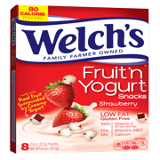 (3 Pack) Welch's Fruit 'N Yogurt Strawberry Snacks, 0.8 oz, 8 ct