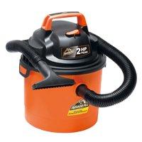 "Armor All 2.5 Gallon 2 HP 1-1/4"" Hose, Portable Wall Mountable Wet/Dry Utility Vac (VOM205P0901), Orange"