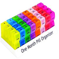 Monthly Pill Organizer - Am/Pm Daily Pill Organizer 32 Compartments for Each Day, Pill Dispenser and Dispenser Caddy That Helps You Organize Your Life, Perfect for Supplements and Medication by MEDca