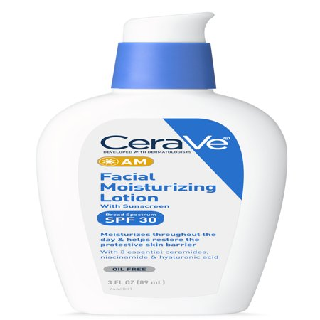 CeraVe AM Face Moisturizer with Broad Spectrum Protection, SPF 30,3 (Best Moisturizer With Spf)