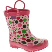 release date 2a14a 07db1 Pluie Pluie Toddler Little Girls Pink Polka Dot Rain Boot Shoes