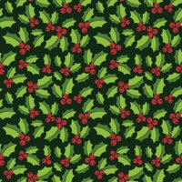 RTC CHRISTMAS FABRIC, HOLLY, 100% COTTON, Quilt Crafts Fabric By The Yard