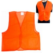 9dbcf81765e02 Orange Safety Vest High Visibility Construction Traffic Warehouse Hunting  New !