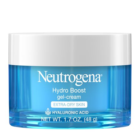Neutrogena Hydro Boost Hyaluronic Acid Gel Face Moisturizer to hydrate and smooth extra-dry skin, 1.7