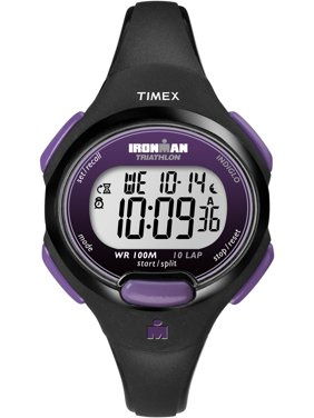 Women's Ironman Essential 10 Mid-Size Watch, Black Resin Strap