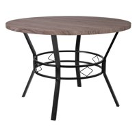 """Flash Furniture Tremont 45"""" Round Dining Table in Distressed Gray Wood Finish"""