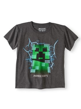 Minecraft Boys' Short Sleeve Charged Creeper Graphic T-Shirt