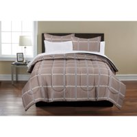 Mainstays Beige Plaid Bed in a Bag Coordinating Bedding Set