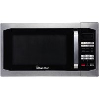 Magic Chef 1.6 Cu. Ft. 1100W Countertop Microwave Oven with Stylish Door Handle