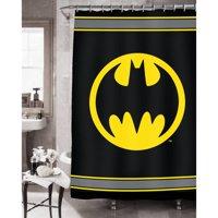 Batman Logo Fabric Shower Curtain
