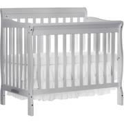 Dream On Me Aden 4-in-1 Convertible Mini Crib Mystic Gray