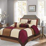 18273242200 Soft Suede 7-Piece Winter Comforter Set Bedding OverSized