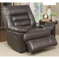 Serta Big & Tall Memory Foam Massage Recliner, Multiple Colors in Faux Leather
