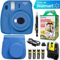 Fujifilm Instax Mini 9 Instant Camera  (Cobalt Blue) + Blue Case + 20 pk Film Kit