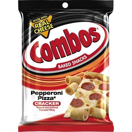 Combos, Baked Snacks, Pepperoni Pizza Cracker, 6.3 Oz