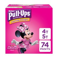 Pull-Ups Girls' Learning Designs Training Pants, Size 4T/5T, 74 Pants