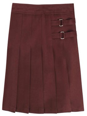 School Uniform Big Girls Plus Two Tab Pleated Scooter Skirt - Plus Size - 30 Day Guarantee - FREE SHIPPING