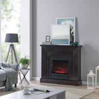 Bold Flame 47 inch Electric Fireplace Heater in Dark Chocolate