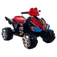 Ride On Toy Quad, Battery Powered Ride On Toy ATV Four Wheeler With Sound Effects by Lil' Rider – Toys for Boys and Girls, 2 - 5 Year Olds (Black)