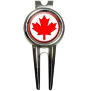 59189e12d0a Canada Maple Leaf Flag Golf Divot Repair Tool and Ball Marker