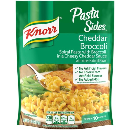 (4 Pack) Knorr cheddar broccoli pasta side dish, 4.3 oz