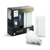 Philips Hue White A19 Smart Light Dimming Kit, 60W LED, 1-Pack