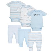Mix N Match Bodysuits & Pants Outfit Set, 6-piece (Baby Boys)