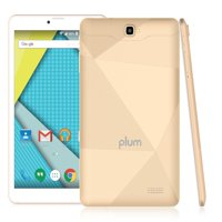 "Plum Optimax 11 - Tablet + Phone Phablet 8"" Display 16GB Memory 4G GSM Unlocked Android ATT Tmobile MetroPCS Cricket Simple Mobile – Gold"