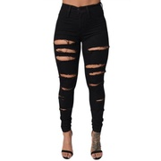 Women High Waisted Stretch Ripped Skinny Jeans Butt Lift Distressed Denim Long Pants
