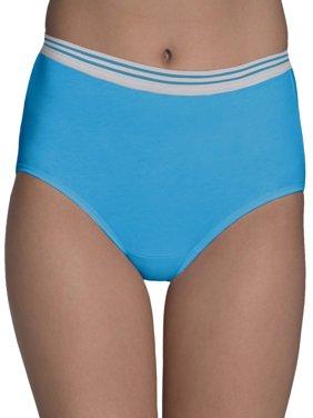 Women's Assorted Heather Brief Panties, 6 Pack