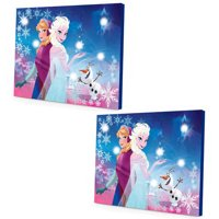 (2 Pack) Disney Frozen LED Canvas Wall Art