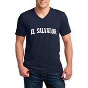 El Salvador El Salvador Men V-Neck Shirts Ringspun