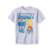 2e4431af646f Short Sleeve Bart Didn t Do it Splatter Graphic Tee (Big Boys)