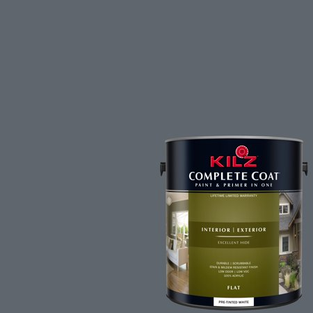 KILZ COMPLETE COAT Interior/Exterior Paint & Primer in One #RM140 Murky Depths