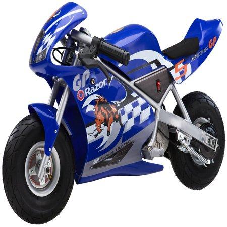 Razor 24 Volt Mini Electric Single Speed Racing Motorcycle Pocket Rocket, (Best Electric Razor For The Money)