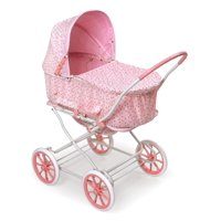 "Badger Basket Just Like Mommy 3-in-1 Doll Pram/Carrier/Stroller - Pink/Rosebud - Fits American Girl, My Life As & Most 18"" Dolls"