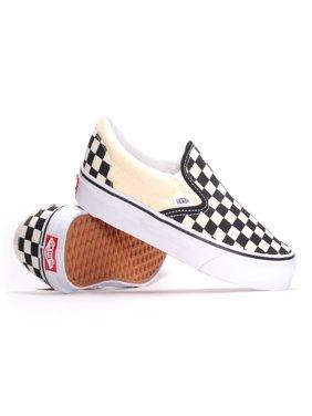 Product Image Vans Classic Slip-On (Black   White Checkerboard White) Men s  Skate Shoes e7ae85621f1cb